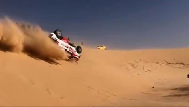 Fernando Alonso sufre accidente en la etapa 10 del Rally Dakar 2020