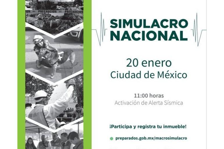 Macrosimulacro 2020 a las 11:00 am