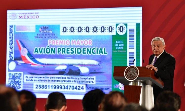 Confirma AMLO que rifará el avión presidencial