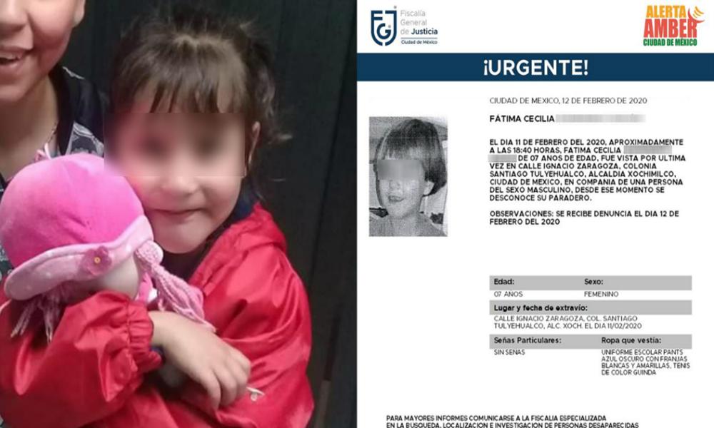 Fiscalía ofrece 2 mdp para localizar a mujer que rapto a Fátima