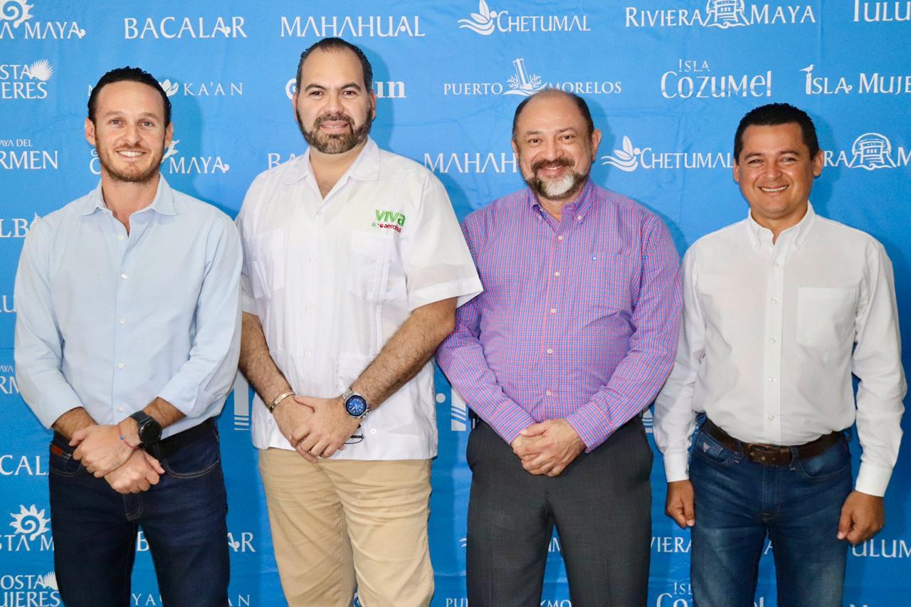Presentan nuevas rutas aéreas hacia Cancún