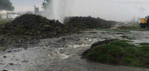 Conagua repara fuga de agua en Sistema Cutzamala