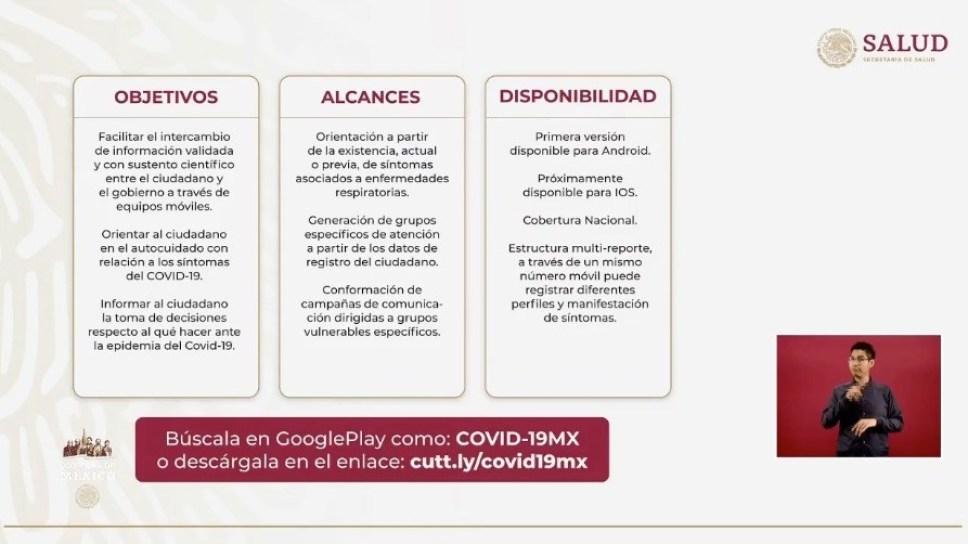 Ssa anuncia app móvil para informar síntomas de covid-19